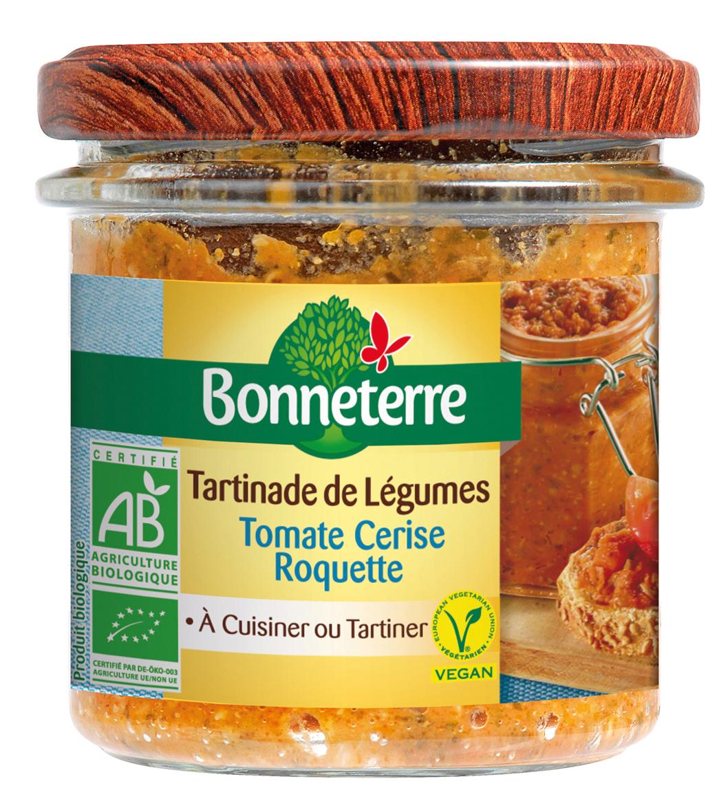 Tartinade de légumes Tomate cerise Roquette - Bonneterre