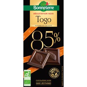 Chocolat noir 85% dégustation BIO
