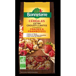 Céréales extra Croustillantes fraises & framboises