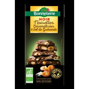 Chocolat noir noisettes caramélisées et sel de guérande