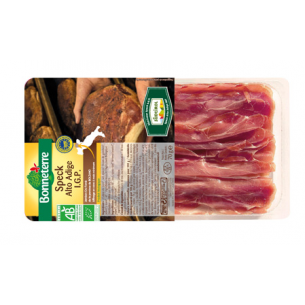 Speck Alto Adige IGP (jambon cru fumé) origine Italie