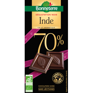 Dégustation Noir Inde 70%