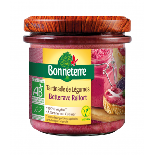 Tartinade de légumes Betterave Raifort